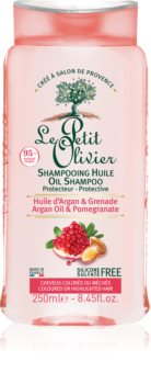 Le Petit Olivier Argan Oil & Pomegranate ochranný šampon pro barvené vlasy