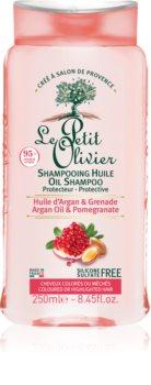 Le Petit Olivier Argan Oil & Pomegranate προστατευτικό σαμπουάν για βαμμένα μαλλιά