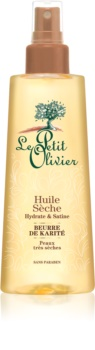 Le Petit Olivier Shea Butter huile sèche cheveux et corps