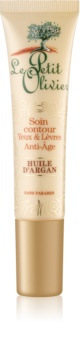 Le Petit Olivier Argan Oil Intensive Anti-Falten-Pflege für die Augen- und Lippenpartien