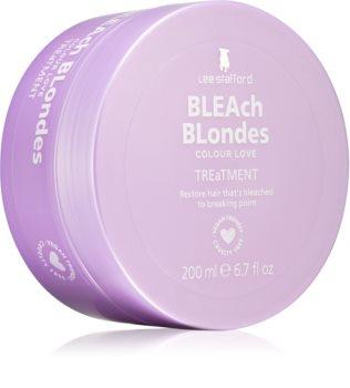 Lee Stafford Bleach Blondes regeneráló maszk a szőke és melírozott hajra