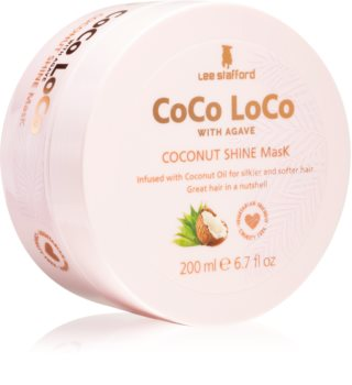 Lee Stafford CoCo LoCo rozjasňující maska pro lesk a hebkost vlasů