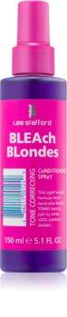 Lee Stafford Bleach Blondes bezoplachový kondicionér pro studené odstíny blond neutralizující žluté tóny