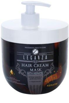 Leganza Hair Care mascarilla textura crema con queratina