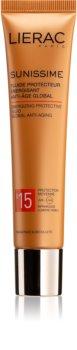 Lierac Sunissime lozione protettiva energizzante contro l'invecchiamento della pelle SPF 15