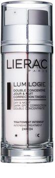 Lierac Lumilogie друфазен озаряващ концентрат за ден и нощ  против пигментни петна