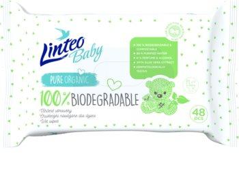 Linteo Baby Baby 100% Biodegradable dětské jemné vlhčené ubrousky