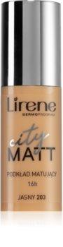 Lirene City Matt Maquilhagem matificante em fluído com efeito alisador