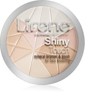 Lirene Shiny Touch puder rozjaśniający do twarzy i okolic oczu
