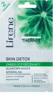 Lirene Dermal Therapy Skin Detox mineralna čistilna maska iz ilovice za mastno in mešano kožo