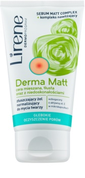 Lirene Derma Matt gel de limpeza normalizante com efeito exfoliante