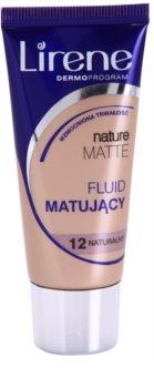 Lirene Nature Matte fond de teint fluide matifiant pour un effet longue tenue
