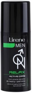 Lirene Men Relax crema hidratante antienvejecimiento para rostro y ojos