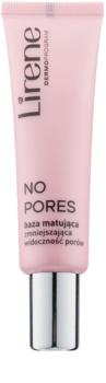 Lirene No Pores prebase de maquillaje matificante para alisar la piel y minimizar los poros
