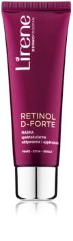 Lirene Retinol D-Forte подхранваща и стягаща маска за лице, врат и деколкте