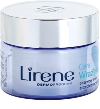 Lirene Sensitive Skin creme antirrugas nutritivo SPF 15
