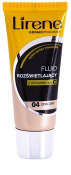 Lirene Vitamin C posvetlitveni fluidni tekoči puder za dolgoobstojen učinek