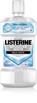Listerine Advanced White Mild Taste apa de gura pentru albire
