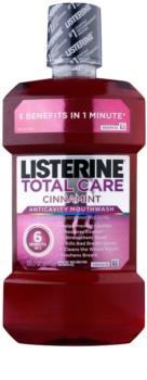 Listerine Total Care Cinnamint elixir para a proteção completa dos dentes 6 in 1