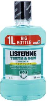 Listerine Teeth & Gum Defence ústna voda proti zubnému povlaku a pre zdravé ďasná