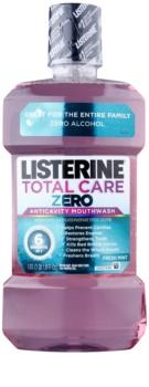 Listerine Total Care Zero elixir bucal de proteção completa contra cavidades e para um hálito fresco sem álcool