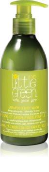 Little Green Baby sampon és tusfürdő gél 2 in 1 gyermekeknek születéstől kezdődően