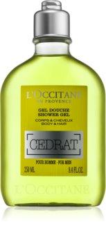 L'Occitane Cedrat gel de ducha para cabello y cuerpo para hombre