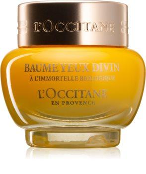 L'Occitane Immortelle Divine Eye Balm подхранващ нощен балсам против отоци и тъмни кръгове