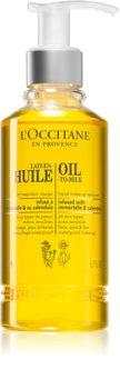 L'Occitane Lait-En-Huile олио за премахване на грим за сияен вид на кожата
