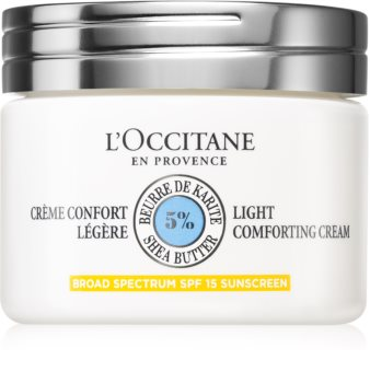 L'Occitane Shea Butter Light Comforting Cream delikatny krem do twarzy z masłem shea