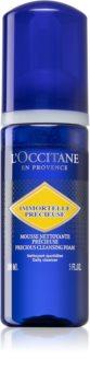 L'Occitane Immortelle Precious Cleansing Foam почистваща пяна  за всички типове кожа на лицето