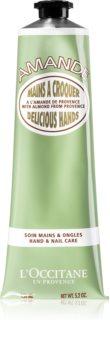 L'Occitane Amande Delicious Hands hydratisierende und nährende Creme für Hände und Fingernägel