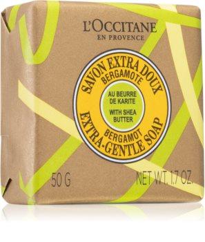 L'Occitane Shea Butter Bergamot Extra-Gentle Soap tuhé mýdlo s bambuckým máslem