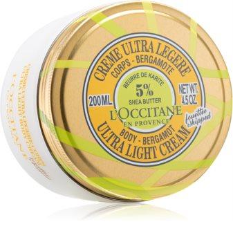 L'Occitane Shea Butter Body-Bergamot Ultra Light Cream ултра лек крем за тяло с масло от шеа