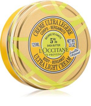 L'Occitane Shea Butter Body-Bergamot Ultra Light Cream ultraleichte Körpercreme mit Bambus Butter