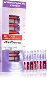 L'Oréal Paris Revitalift Filler vyplňující hyaluronové sérum v ampulích