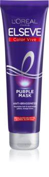 L'Oréal Paris Elseve Color-Vive Purple tápláló maszk a szőke és melírozott hajra