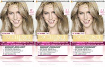 L'Oréal Paris Excellence Creme barva na vlasy 8.1 Ash Blonde (výhodné balení) odstín