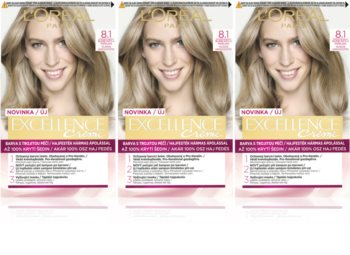 L'Oréal Paris Excellence Creme culoare par 8.1 Ash Blonde culoare