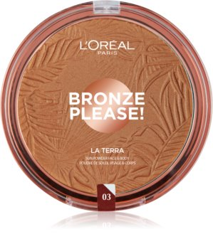 L'Oréal Paris Wake Up & Glow La Terra Bronze Please! bronzer a konturovací pudr