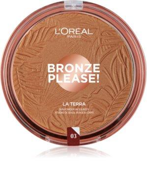 L'Oréal Paris Wake Up & Glow La Terra Bronze Please! бронзатор та контурна пудра