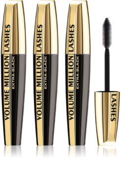 L'Oréal Paris Volume Million Lashes Extra Black Mascara für längere und dichtere Wimpern 3 pc