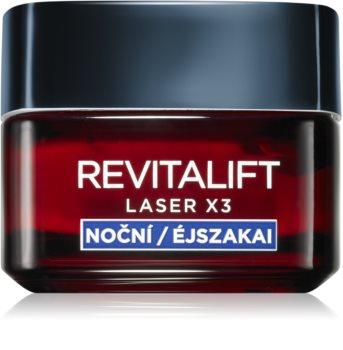 L'Oréal Paris Revitalift Laser X3 regenerujący krem na noc przeciw starzeniu się skóry