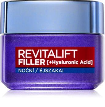 L'Oréal Paris Revitalift Filler crema de completare pentru noapte. anti-îmbătrânire