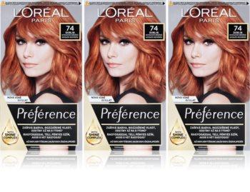 L'Oréal Paris Préférence barva na vlasy 74 Dublin (výhodné balení) odstín