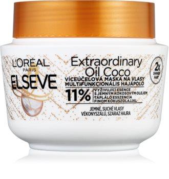 L'Oréal Paris Elseve Extraordinary Oil Coconut подхранваща маска за нормална към суха коса с кокосово олио