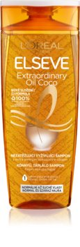 L'Oréal Paris Elseve Extraordinary Oil Coconut Ravitseva Hiustenpesuaine Normaalista Kuiviin Hiuksiin