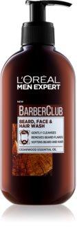 L'Oréal Paris Barber Club gel de limpeza para barba, rosto e cabelo