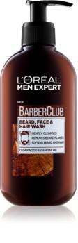 L'Oréal Paris Barber Club καθαριστικό τζελ για γένια, πρόσωπο και μαλλιά