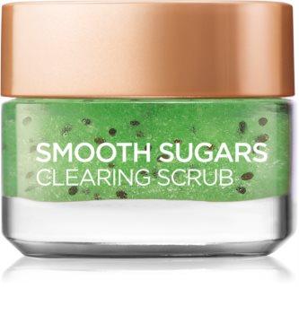 L'Oréal Paris Smooth Sugars Scrub exfoliant de curățare impotriva punctelor negre